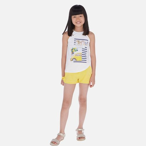Girls Mayoral Top and Shorts Set 6260 Yellow 32