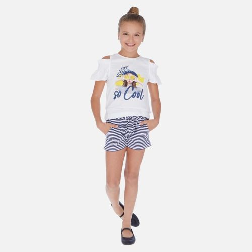 Girls Mayoral Top and Shorts Set 6259 Indigo 92