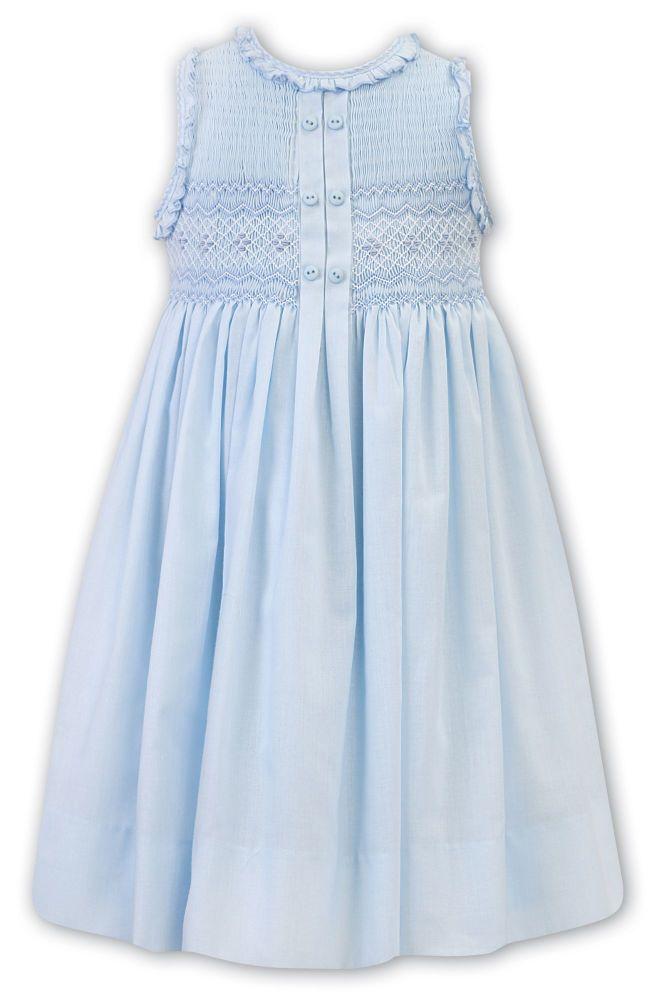 Girls Sarah Louise Dress 011865 - Blue and White