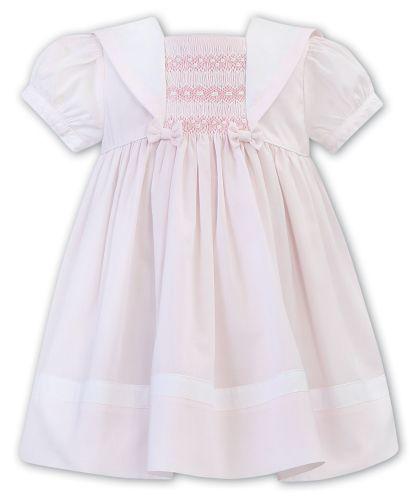 Girls Sarah Louise Dress 011869 - Pink and White