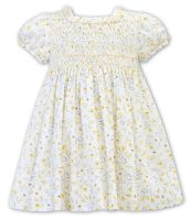 Girls Sarah Louise Dress 011939 White and Lime
