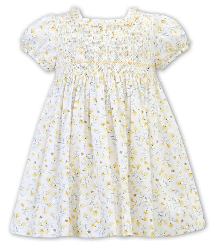 Girls Sarah Louise Dress 011939 White and Mint