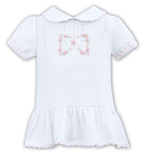 Girls Sarah Louise Dress 008122 White