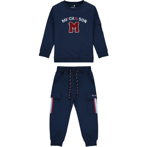 PRE ORDER AW20/21 Boys Mitch & Son Connor Tracksuit MS1451 Navy