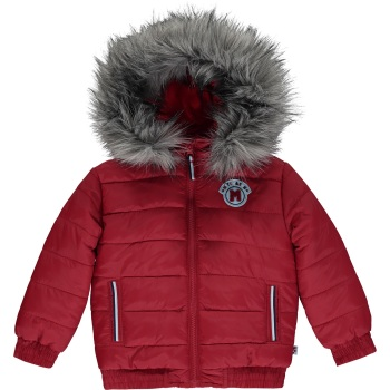 Boys Mitch & Son Maddox Padded Jacket with Faux Fur Trim MS1439 Chilli Red - 18m, 2 and 3 years remaining