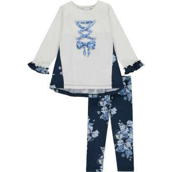 Girls A*Dee Blues Helena Tunic Leggings Set W204516 - 2 years only