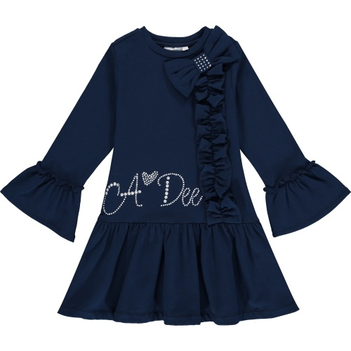 PRE ORDER AW20/21 Girls A*Dee Blues Huda Sweat Frill Dress W204716