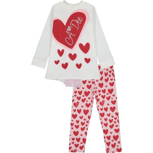 PRE ORDER AW20/21 Girls A*Dee Queen of Hearts Evie Leggings Set W201500