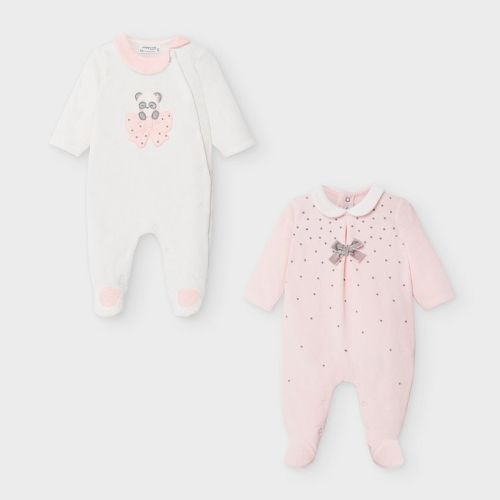 Girls Mayoral Babygrow 2752 - Pack of 2