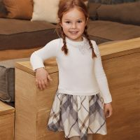Girls Mayoral Dress 4961 - Natural 63