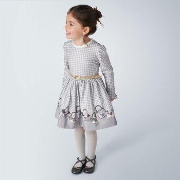 Girls Mayoral Dress 4963 Silver