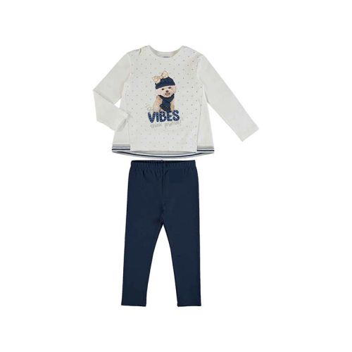 Girls Mayoral Leggings Set 4731 - Navy 24