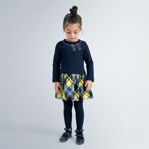 Girls Mayoral Dress 4961 - Navy 64