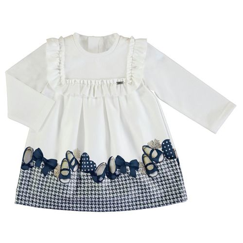Girls Mayoral Dress 2946 Navy 60