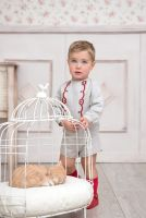 Boys Miranda Red and Beige Set 126