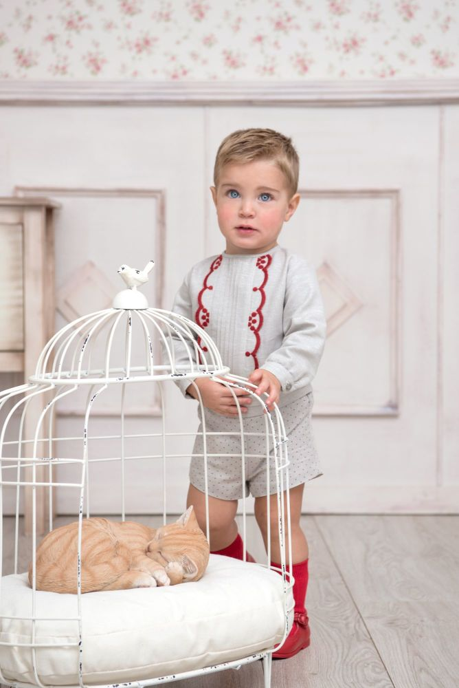 PRE ORDER AW20/21 Boys Miranda Red and Beige Set 126