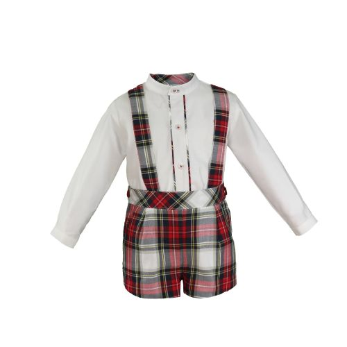 PRE ORDER AW20/21 Boys Miranda Red Tartan Set 128