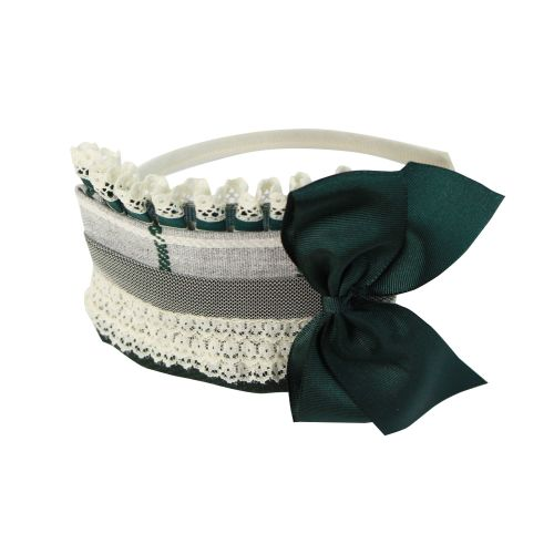PRE ORDER AW20/21 Girls Miranda Grey and Green Headpiece 275D