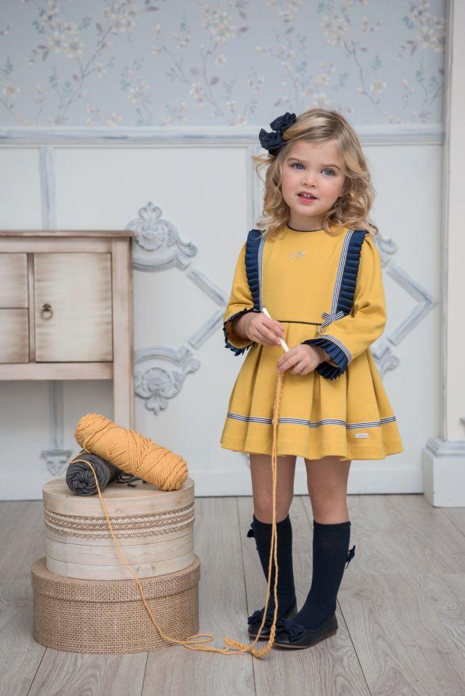 PRE ORDER AW20/21 Girls Miranda Mustard Dress 605