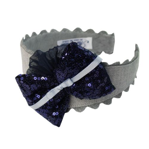 PRE ORDER AW20/21 Girls Miranda Navy Headpiece 346D