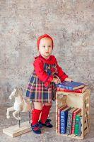 Girls Miranda Navy Tartan Dress 148