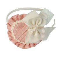Girls Miranda Peach and Cream Headpiece 229DP