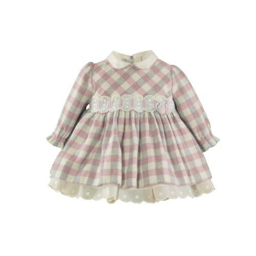 PRE ORDER AW20/21 Girls Miranda Pink and Grey Check Dress 36