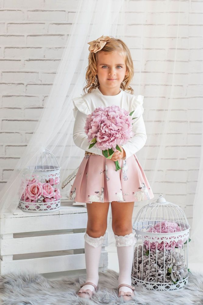 PRE ORDER AW20/21 Girls Miranda Pink Skirt Set 273