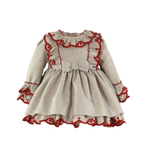 PRE ORDER AW20/21 Girls Miranda Red and Beige Dress 126