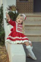 Girls Miranda Red and Cream Dress 250