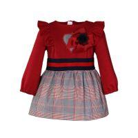 Girls Miranda Red and Grey Tartan Dress 161