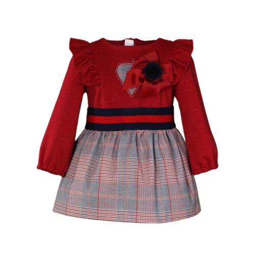 PRE ORDER AW20/21 Girls Miranda Red and Grey Tartan Dress 161