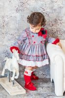 Girls Miranda Red and Grey Tartan Dress 163
