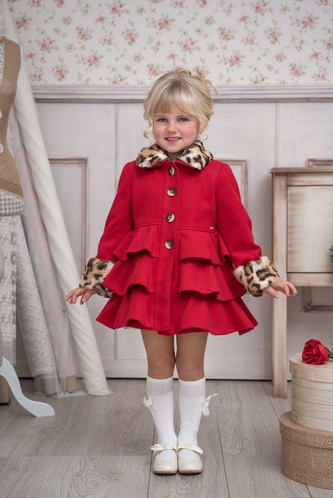 PRE ORDER AW20/21 Girls Miranda Red Coat 204