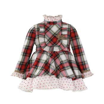 Girls Miranda Red Tartan Dress 228