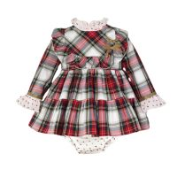 Girls Miranda Red Tartan Dress and Pants 128
