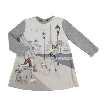 Girls Mayoral Dress 4987 Silver 16