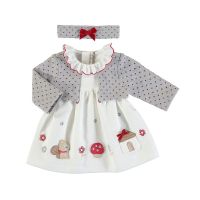 Girls Mayoral Dress with Cardigan 2851 - Red 65