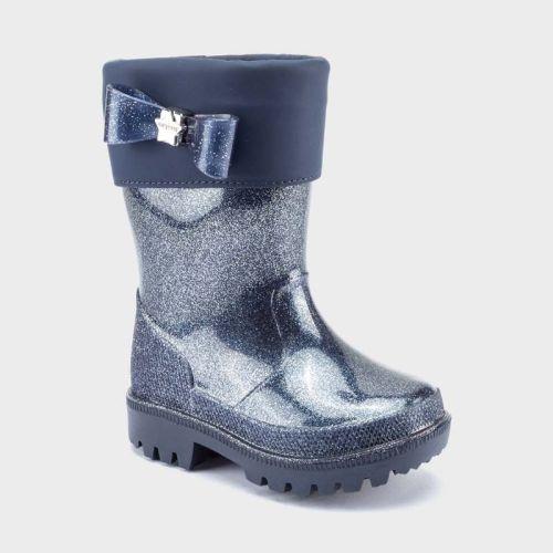 Girls Mayoral Rain Boots 44150 - Navy Glitter