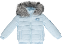Boys Mitch & Son Ryker Padded Jacket with Faux Fur Trim MS1421 Pale Blue