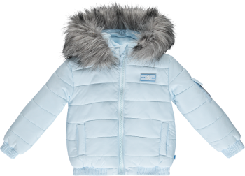 Boys Mitch & Son Ryker Padded Jacket with Faux Fur Trim MS1421 Pale Blue - 4 years only