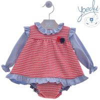 Girls Yoedu Red, White and Blue Dress and Pants 2041