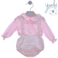 Girls Yoedu Pink and White Set 1810