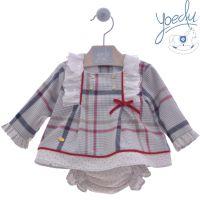 Girls Yoedu Red and Grey Dress and Pants 2051