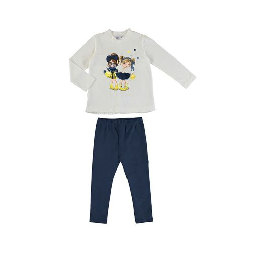 Girls Mayoral Leggings Set 4724 - Navy