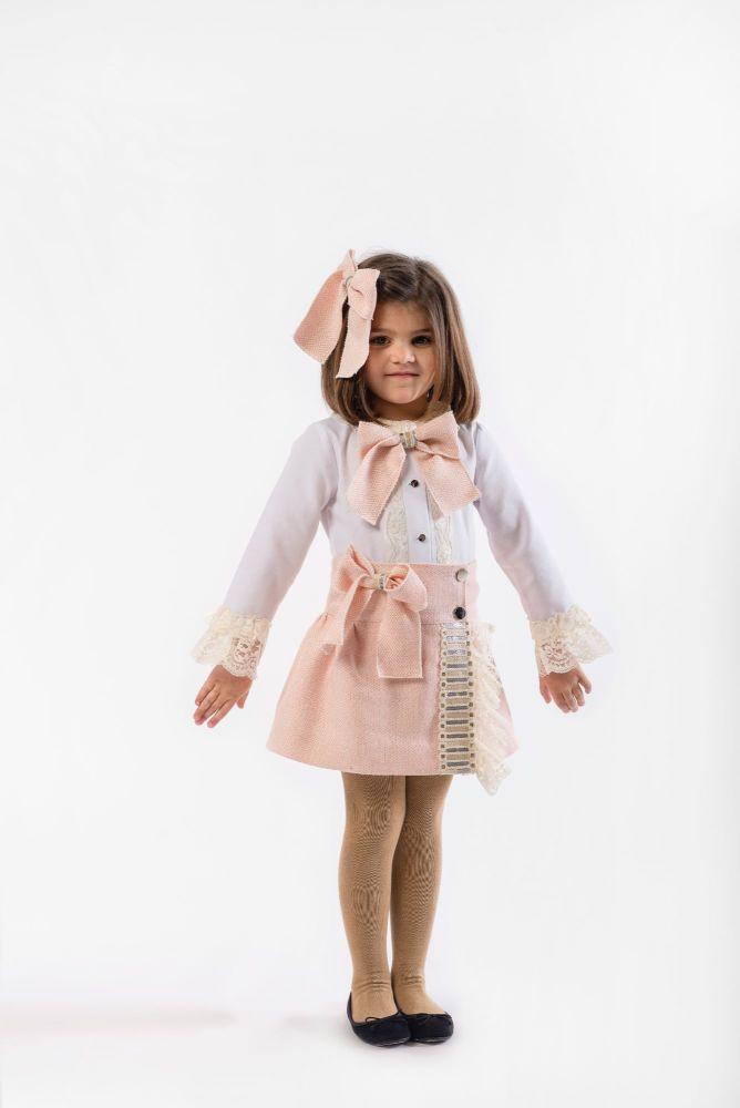 Girls Naxos Pink Top and Skirt Set 6624