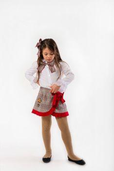 Girls Naxos Red and Grey Set 6636