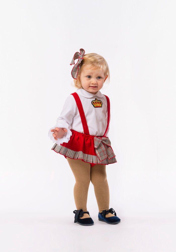 Girls Naxos Red and Grey Set 6605