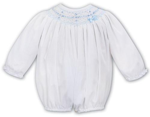 Girls Sarah Louise Romper 012043 Long Sleeve Blue