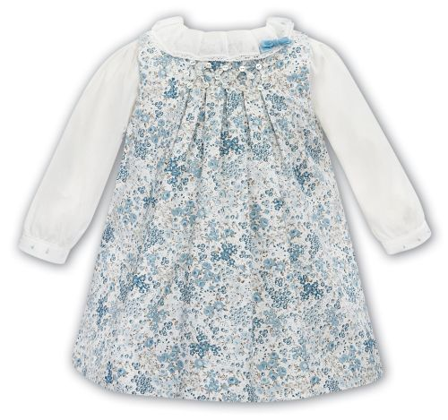 Girls Sarah Louise Dress 012131 (Pinafore Dress and Blouse)